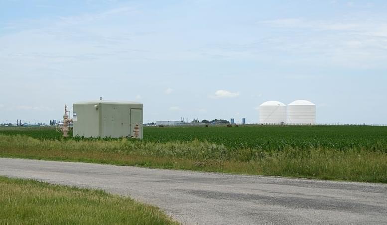 Manlove natural gas storage field.