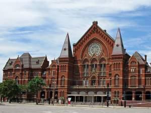 Music Hall (with Exposition Halls) in Cincinnati, Ohio.