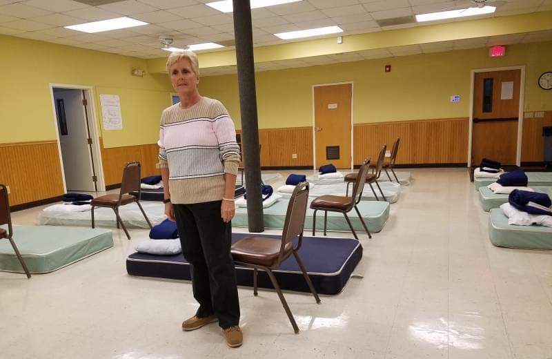 Rev. Sheryl Palmer at the C-U Men's Shelter.