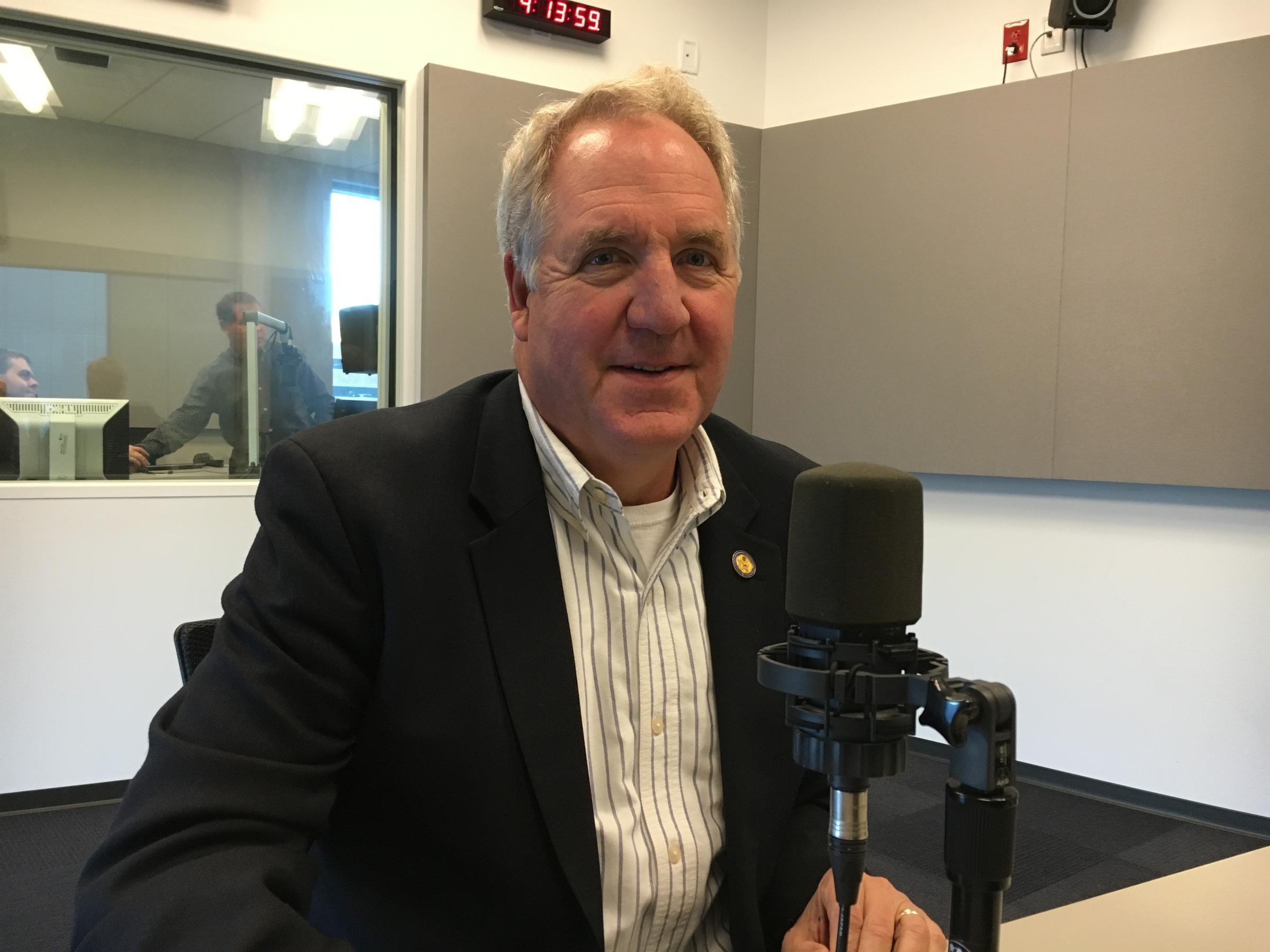John Shimkus at the studios of St. Louis Public Radio.