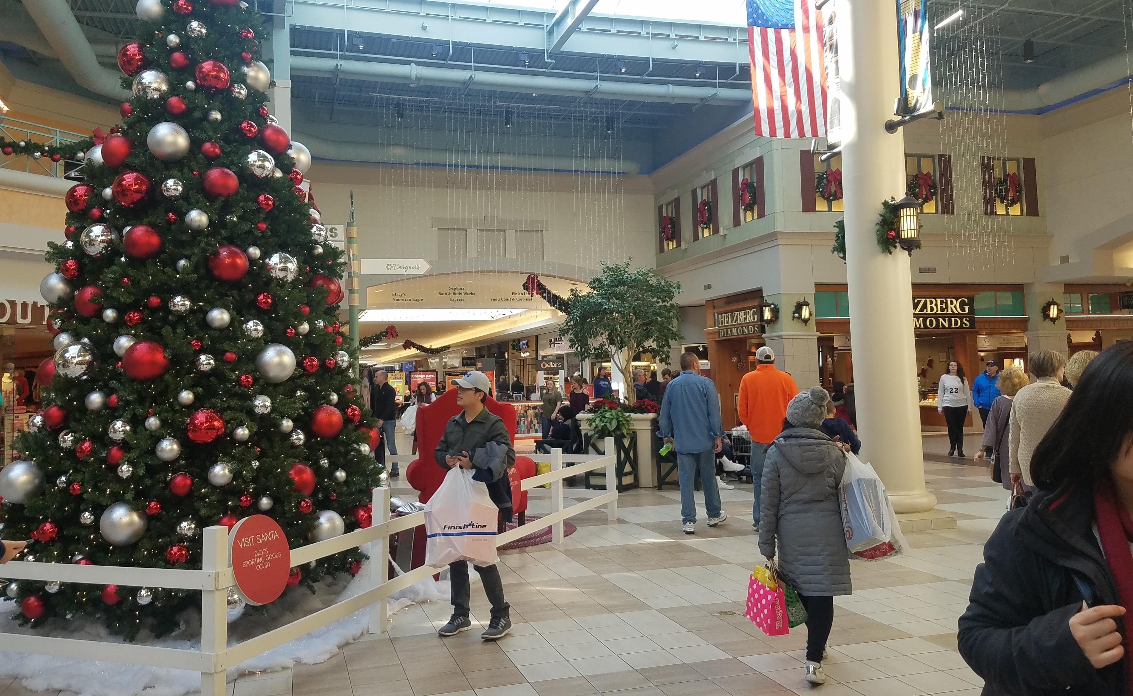 Shoppers at Market Place Shopping Center in Champaign, on Black Friday 2017.
