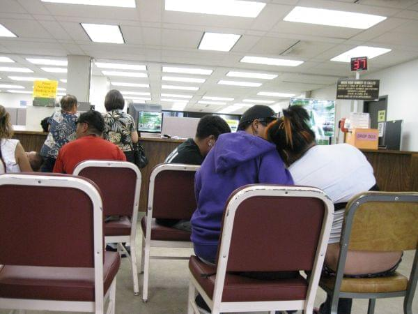 Unemployment office.