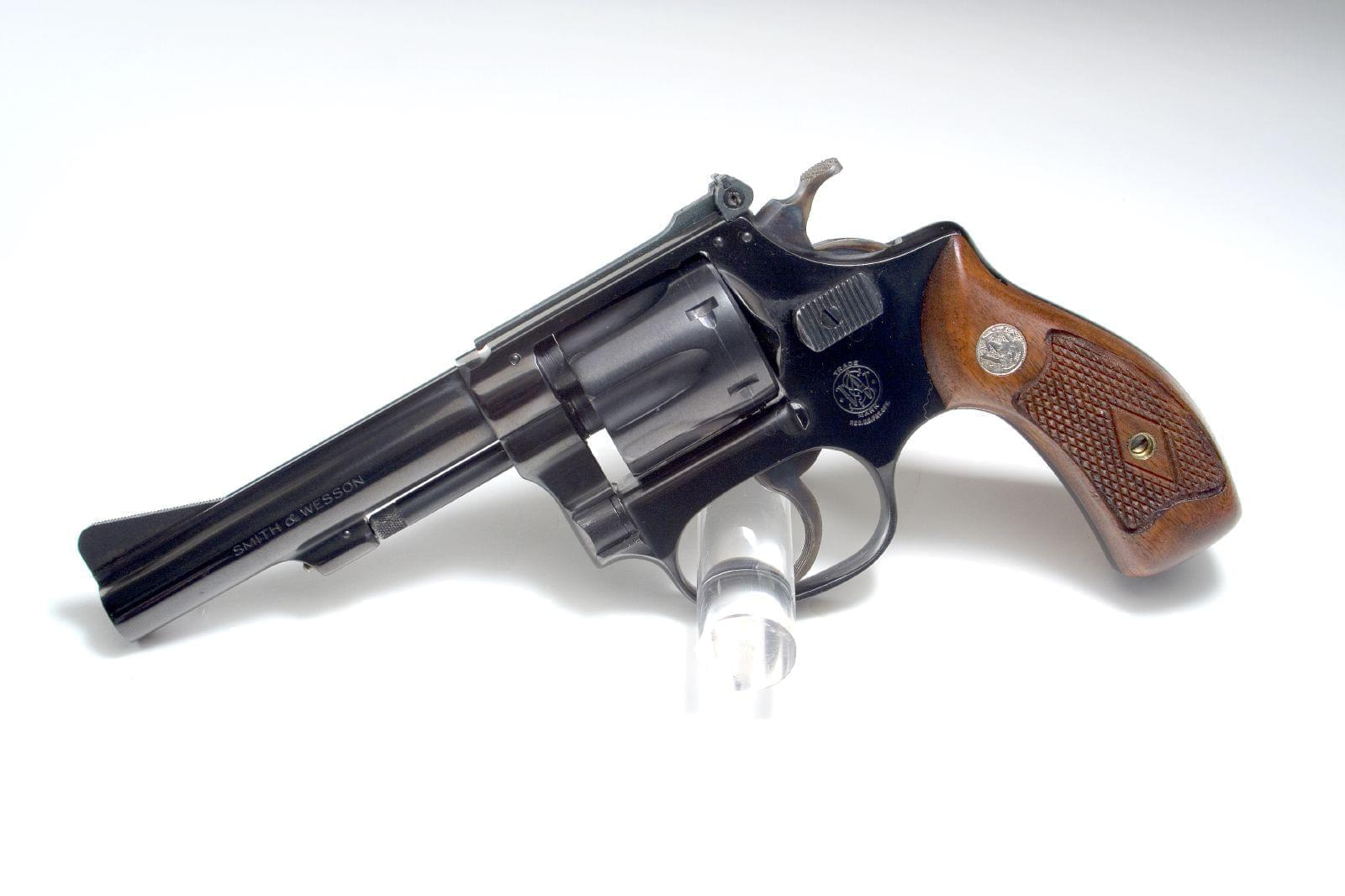 A Smith and Wesson revolver.