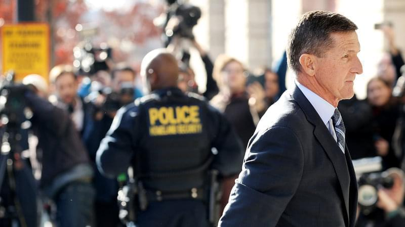 Former national security adviser Michael Flynn arrives for his plea hearing at the Prettyman Federal Courthouse in Washington, D.C