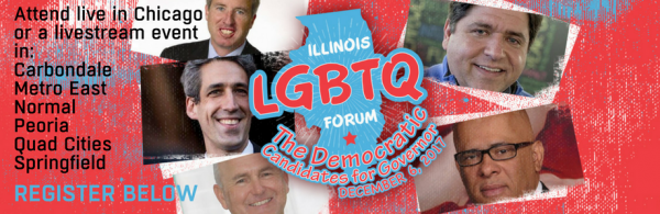 Advertisement for a forum sponsored by Equality Illinois.