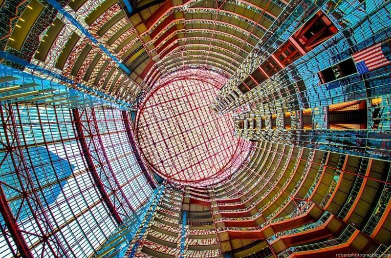 The James R. Thompson Center in Chicago.