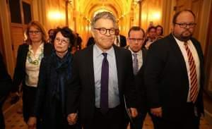 Sen. Al Franken, and his wife Franni Bryson at the U.S. Capitol