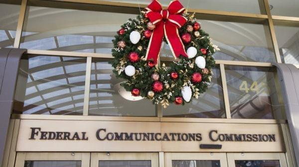 Entrance to the Federal Communications Commission in Washington, DC.