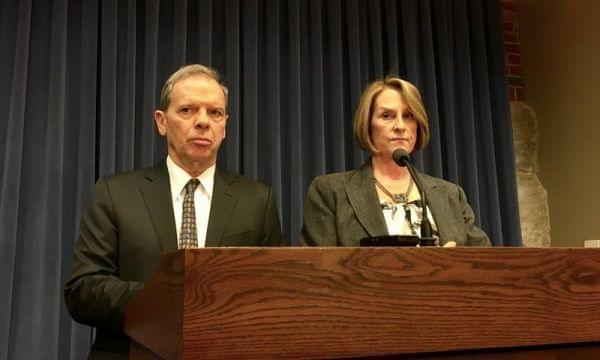 Illinois Senate President John Cullerton and then-Senate Minority Leader Christine Radogno in early 2017.