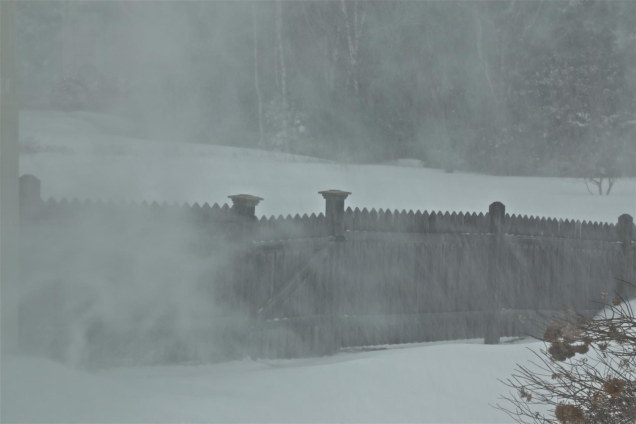 Blowing snow.