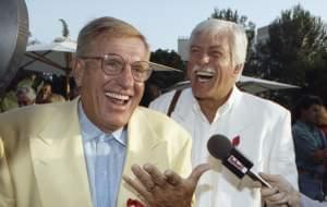 Jerry Van Dyke and brother Dick Van Dyke in 1992.