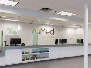 The patient service desk at Nu Med, a medical marijuana dispensary that opened in Urbana in 2016.