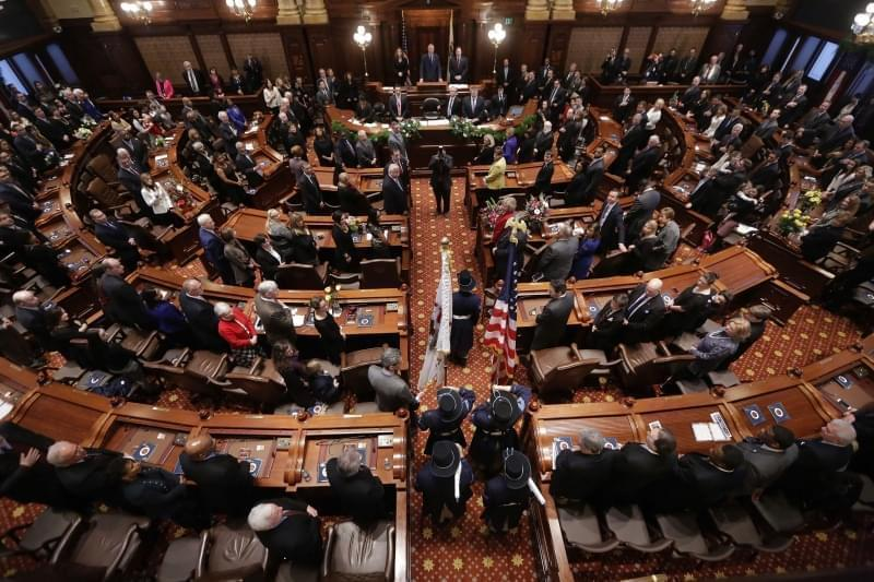 Legislators in the statehouse