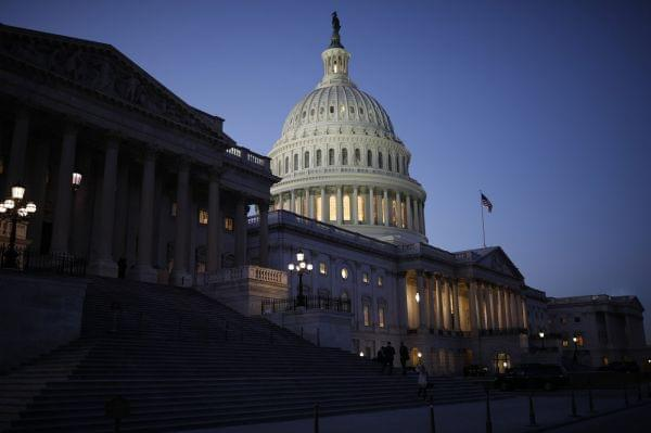 The U.S. Capitol is seen as lawmakers worked to avert a government shutdown Friday in Washington, D.C.