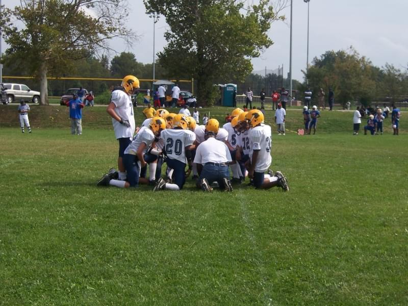 The O'Fallon Little Panthers youth football team after a game in 2008.