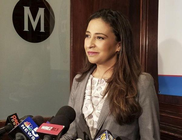 Erika Harold, a Republican candidate for Illinois attorney general, in September 2017 in Chicago. Harold won the GOP primary for the seat.