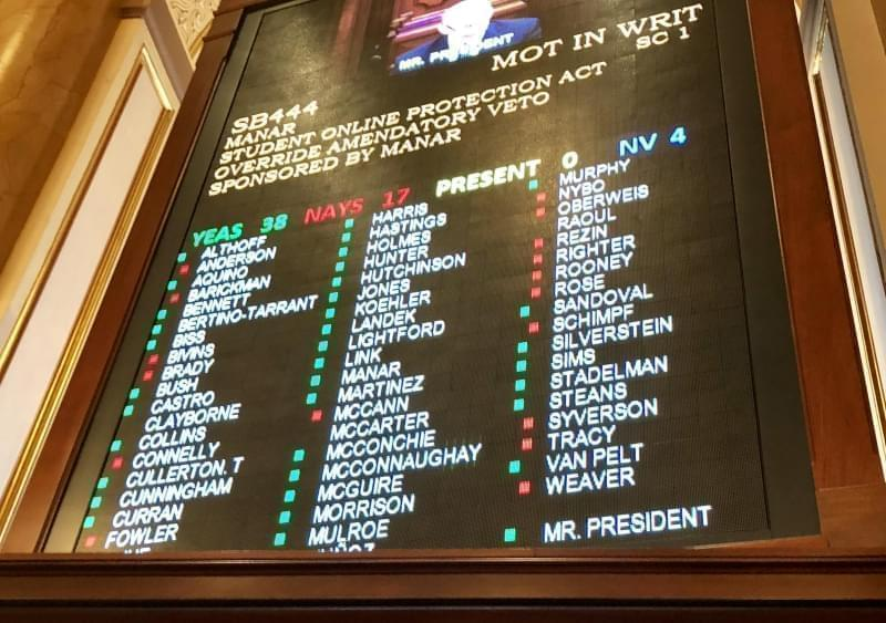 The Illinois General Assembly voted to override Gov. Bruce Rauner's veto of a school funding trailer bill.