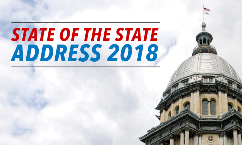 Illinois Governor Bruce Rauner delivered his State of the State Address Wednesday to a joint session of the Illinois General Assembly.