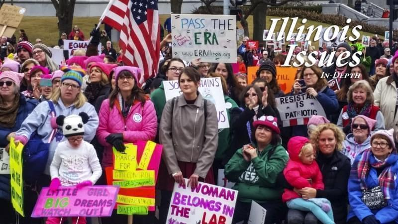 Women convened in Springfield for the second annual Women's March in January, 2018.
