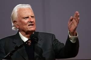 Evangelist Billy Graham speaks during in 2005 in the Queens, N.Y. Graham was one of the most influential religious figures of the 20th century. Scholars say his death marks the end of a historical era, in which one person could unify Protestant Chris