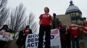 Lauren Quinn (center) Heads the Illinois Chapter of Moms Demand Action for Gun Sense in America.