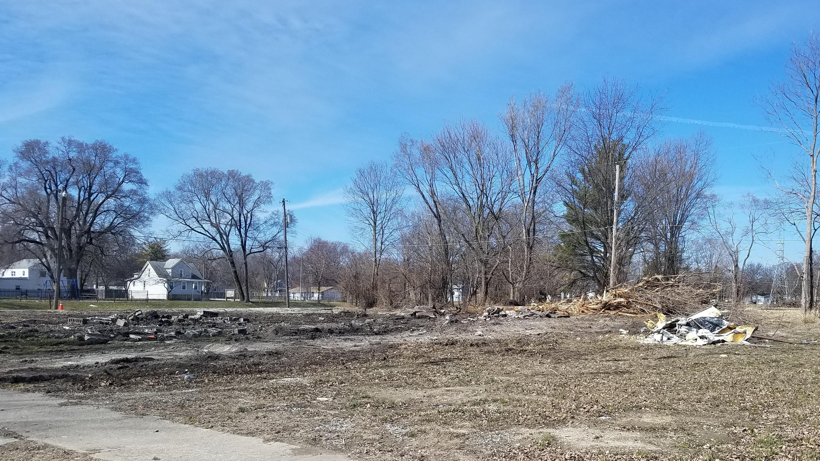 Site where a home was recently demolished in Champaign's Bristol Place neighborhood.