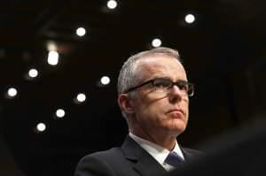 Then-Acting FBI Director Andrew McCabe testified before the Senate Intelligence Committee on Capitol Hill on May 11, 2017, soon after James Comey's abrupt firing by President Trump.