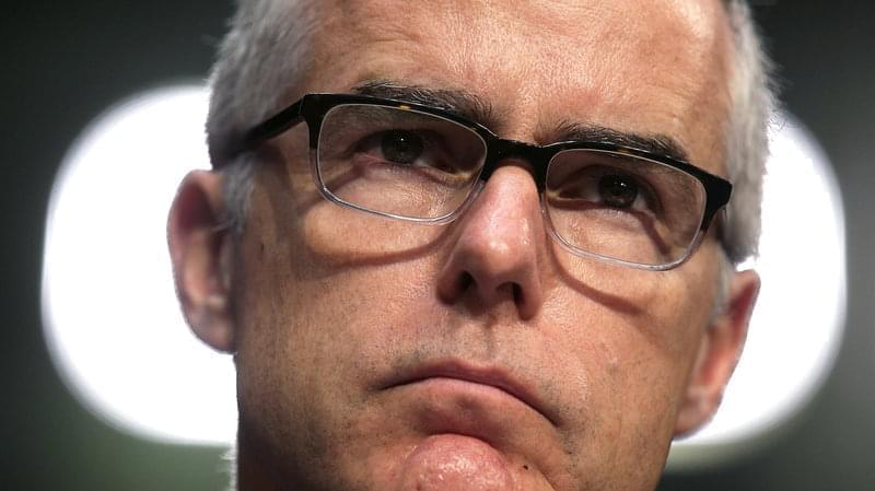 Head shot of former deputy FBI Director Andrews McCabe