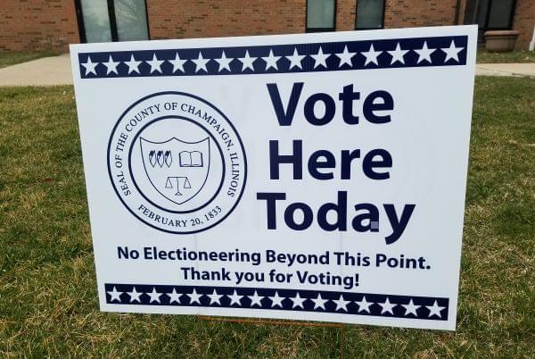 Polling Place sign.