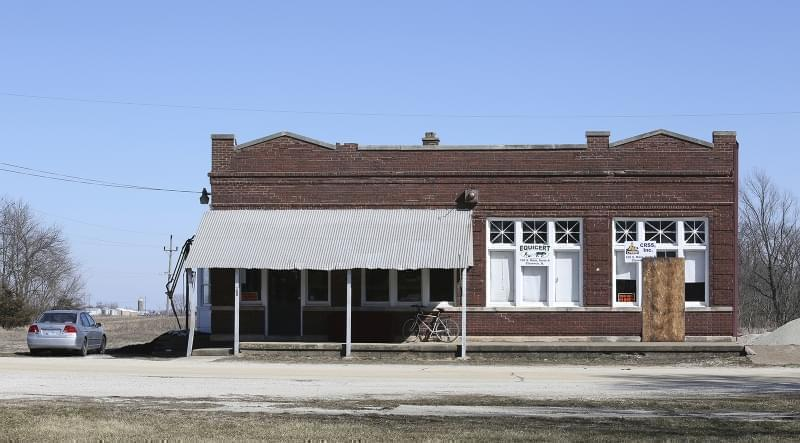A building that housed Michael Hari's business is seen Wednesday, March 14, 2018, in Clarence, Ill.