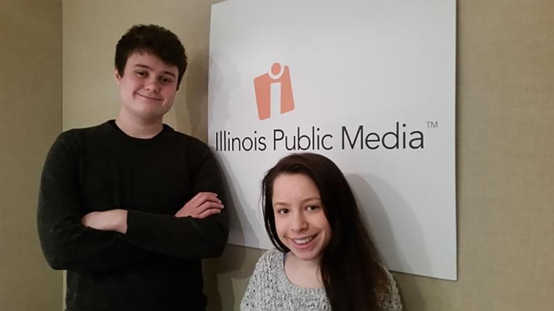 Zanden Duncan, 18, a senior at Central High School in Champaign, and Elizabeth Singer, 17, a senior at University of Illinois Laboratory High School, are among the student organizers of a protest calling for lawmakers to enact stricter gun control me