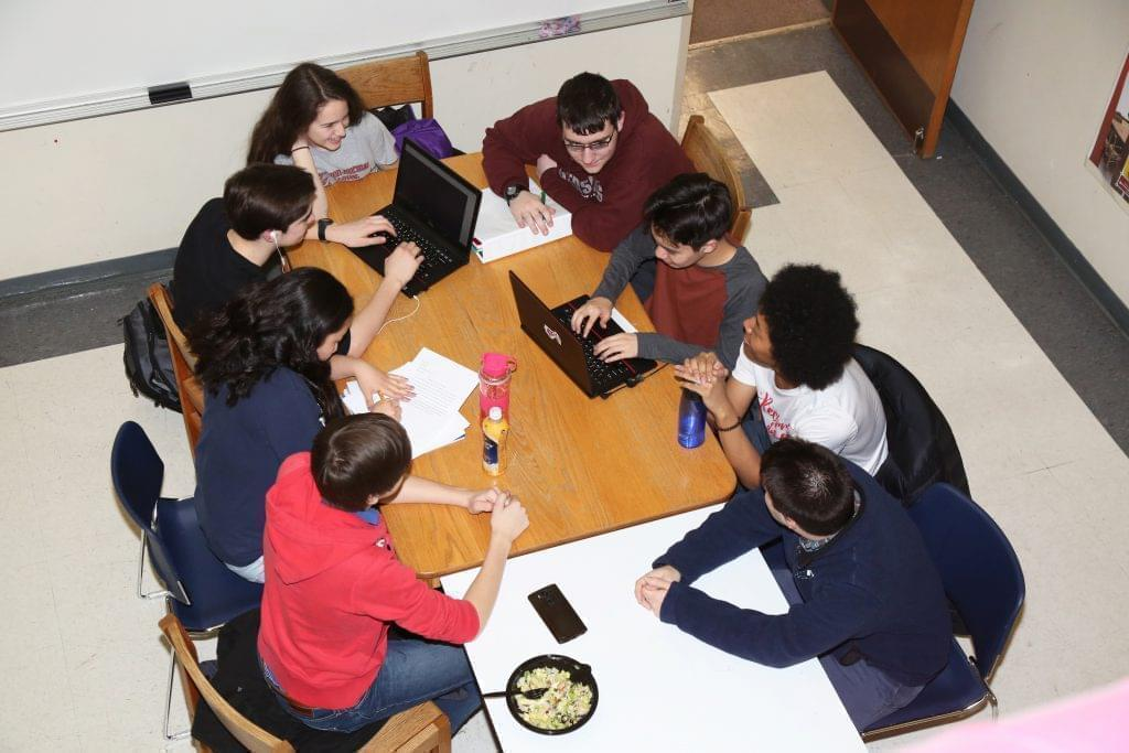 Students at the Illinois Math and Science Academy in suburban Chicago.