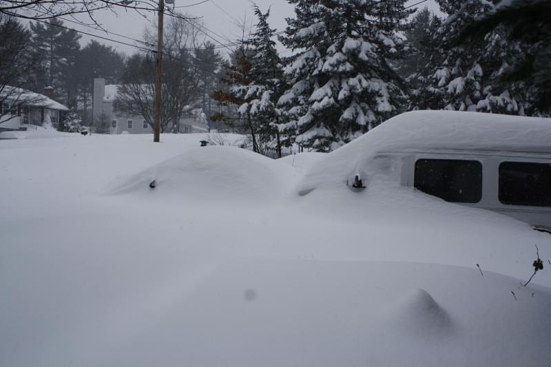 Heavy snow.