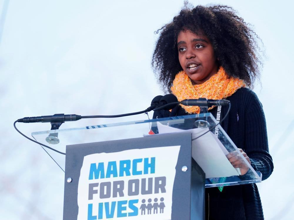 Eleven-year-old Naomi Wadler of Alexandria, Va., was among the young people who rallied the crowd in Washington, D.C.