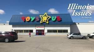 The Toys R Us store location in Springfield, Illinois.