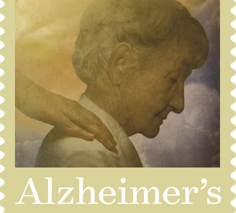 Alzheimer's first-class postage stamp.