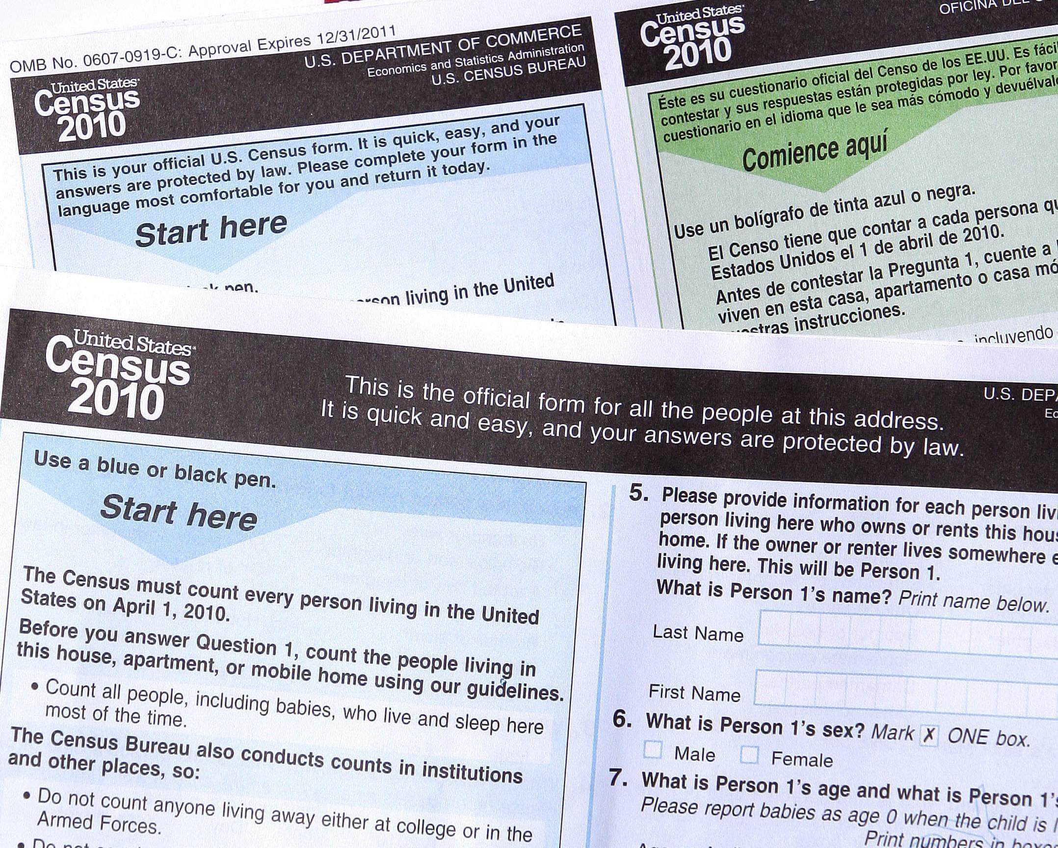 Census Bureau forms