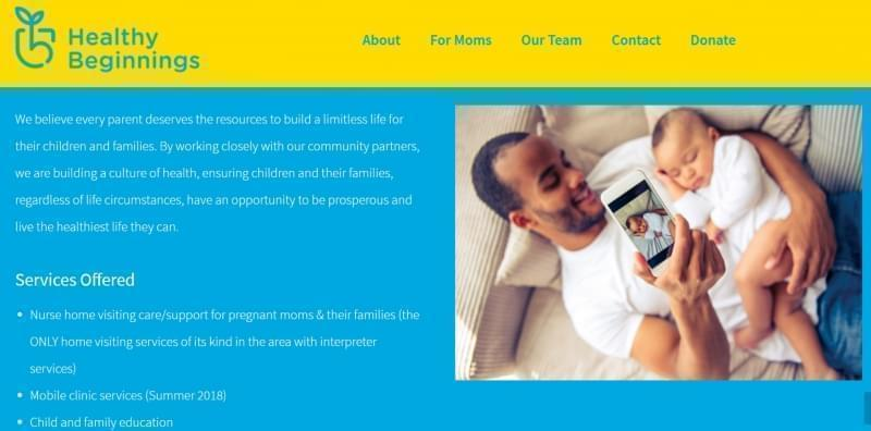 CU Healthy  Beginnings website