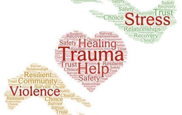 Trauma and violence word cloud