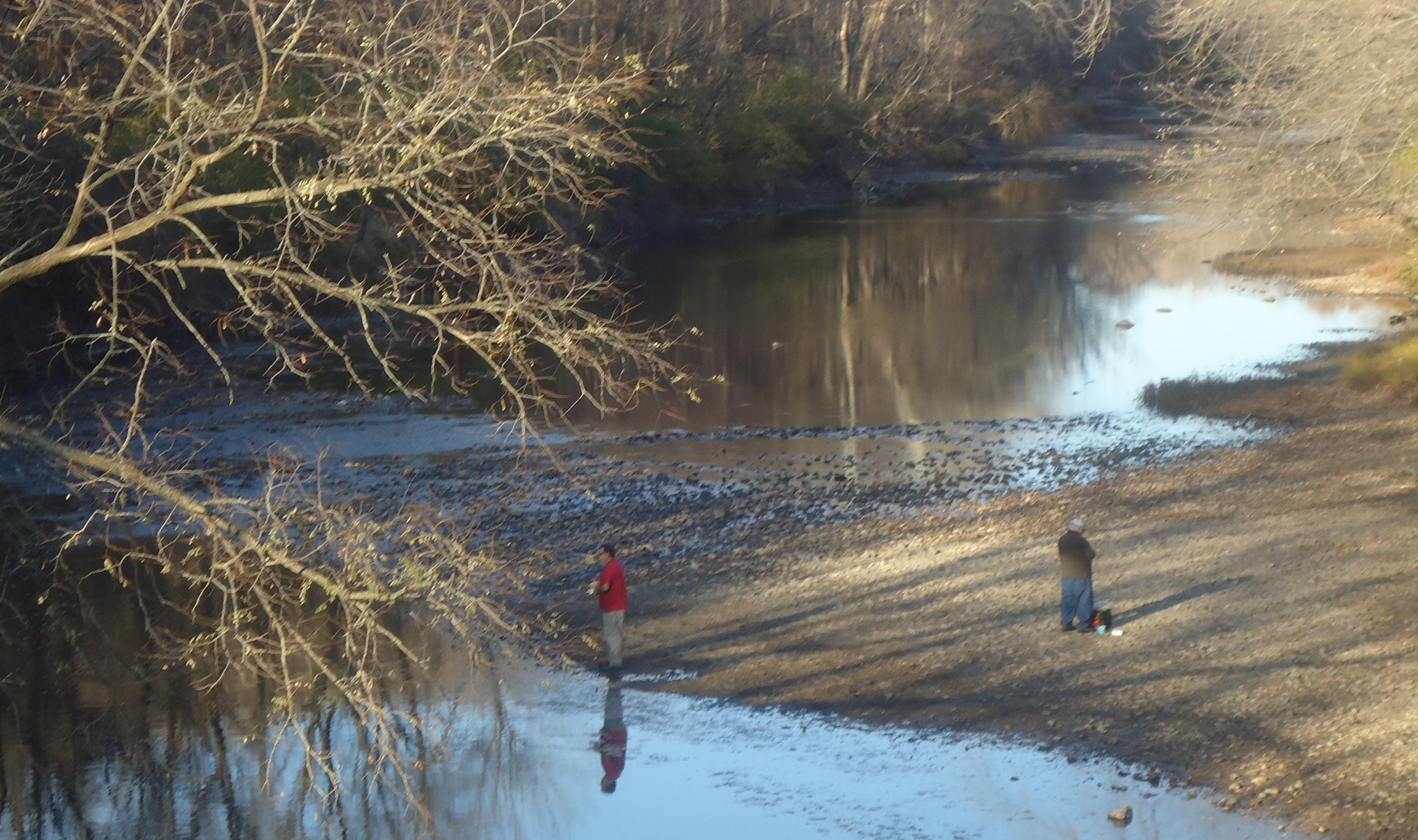 Fisherman on the Middle Fork of the Vermilion River.