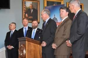 House Agriculture Committee leaders discuss their first draft of the 2018 farm bill on Thursday in Washington, D.C.
