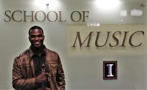 Senior Julius Adams is a music major at the University of Illinois, whose instrument of choice is the viola.