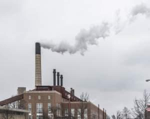 The Abbott Power Plant on the University of Illinois campus in Champaign on March 6.