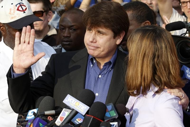 Former Illinois Gov. Rod Blagojevich and wife Patti, in 2012.