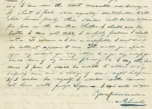 A letter in which Lincoln laments a break up with his eventual wife, Mary Todd.