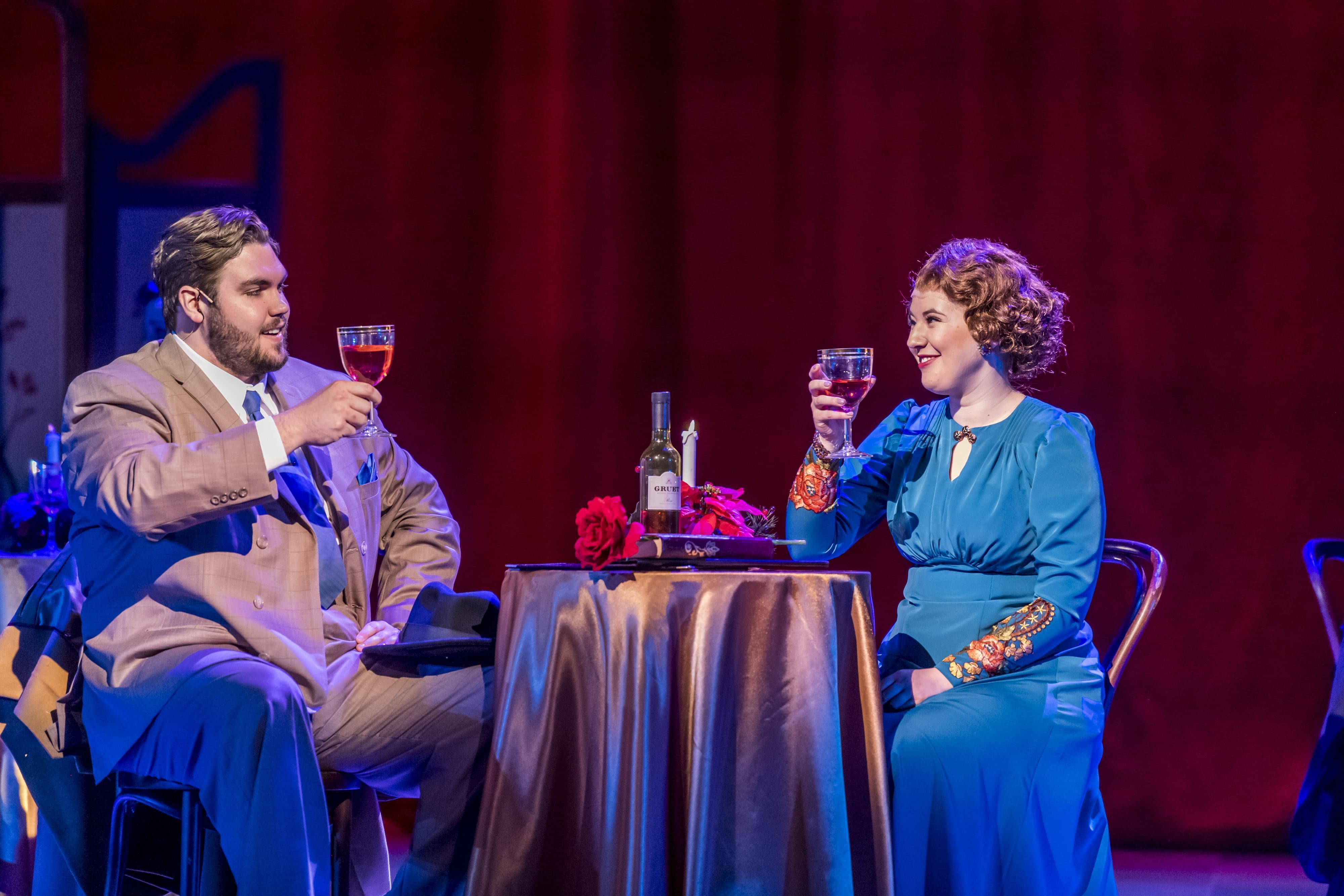 "Georg (Nole F. Jones) and Amalia (Rachel Weinfeld) in a scene from ""She Loves Me,"" opening Thursday night at Krannert Center for the Performing Arts."