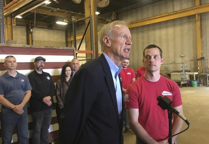 Rauner speaking on Veterans Home in Quincy
