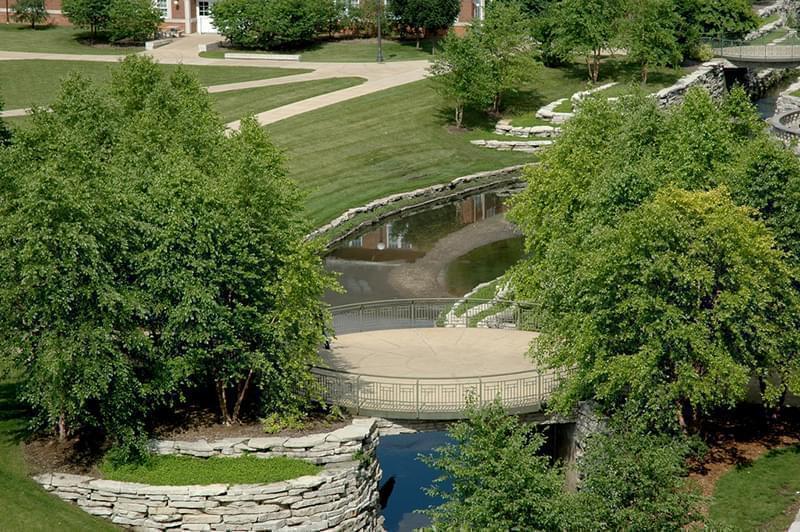 The Boneyard Creek running through the University of Illinois Urbana campus