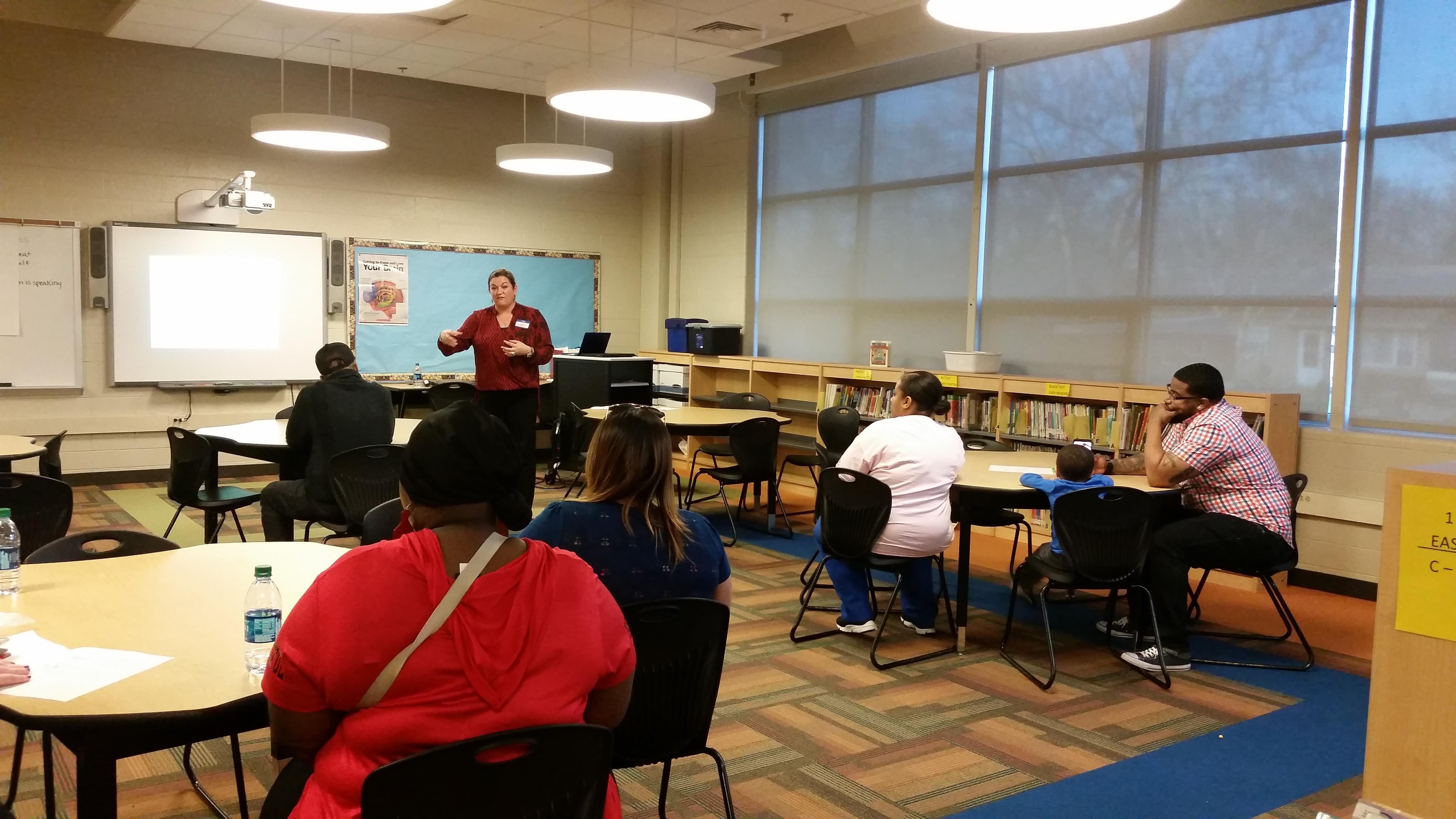 Teachers receiving trauma training