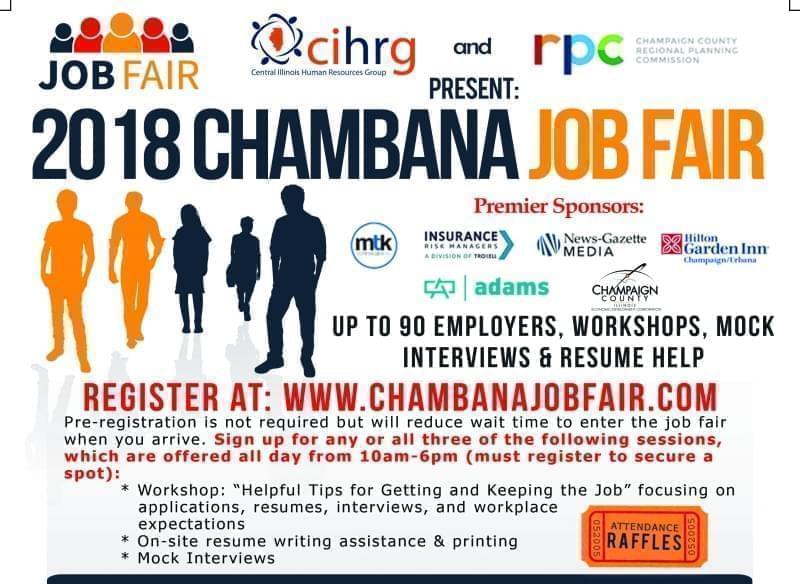 2018 Chambana Job Fair Flyer